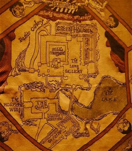 ホグワーツ城 地図 布