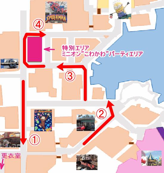 ハロウィンパレード コースマップ