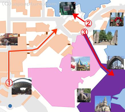 ハリーポッター整理券地図