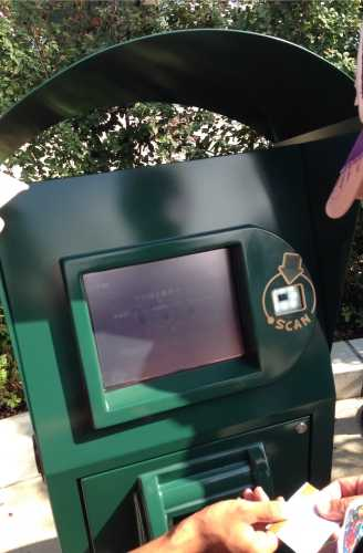 USJハリーポッター整理券発券機