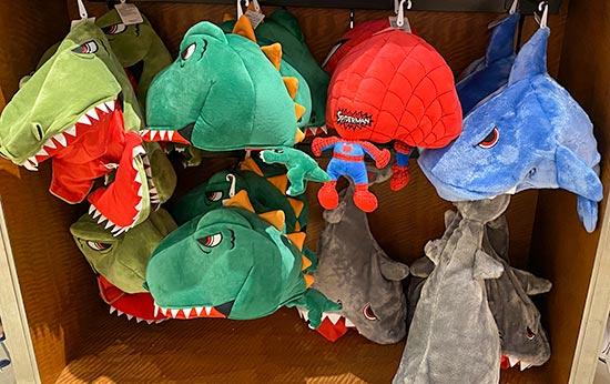 ユニバ 恐竜被り物