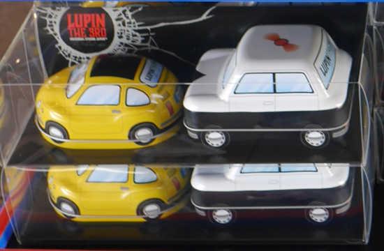 ルパン三世の車と銭形警部のパトカー