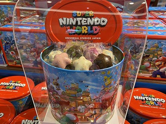 スーパーニンテンドーワールド お菓子缶