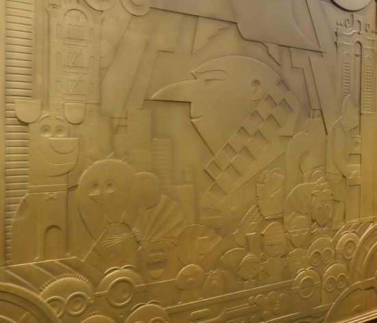 シングオンツアー 部屋の飾り ミニオン壁画